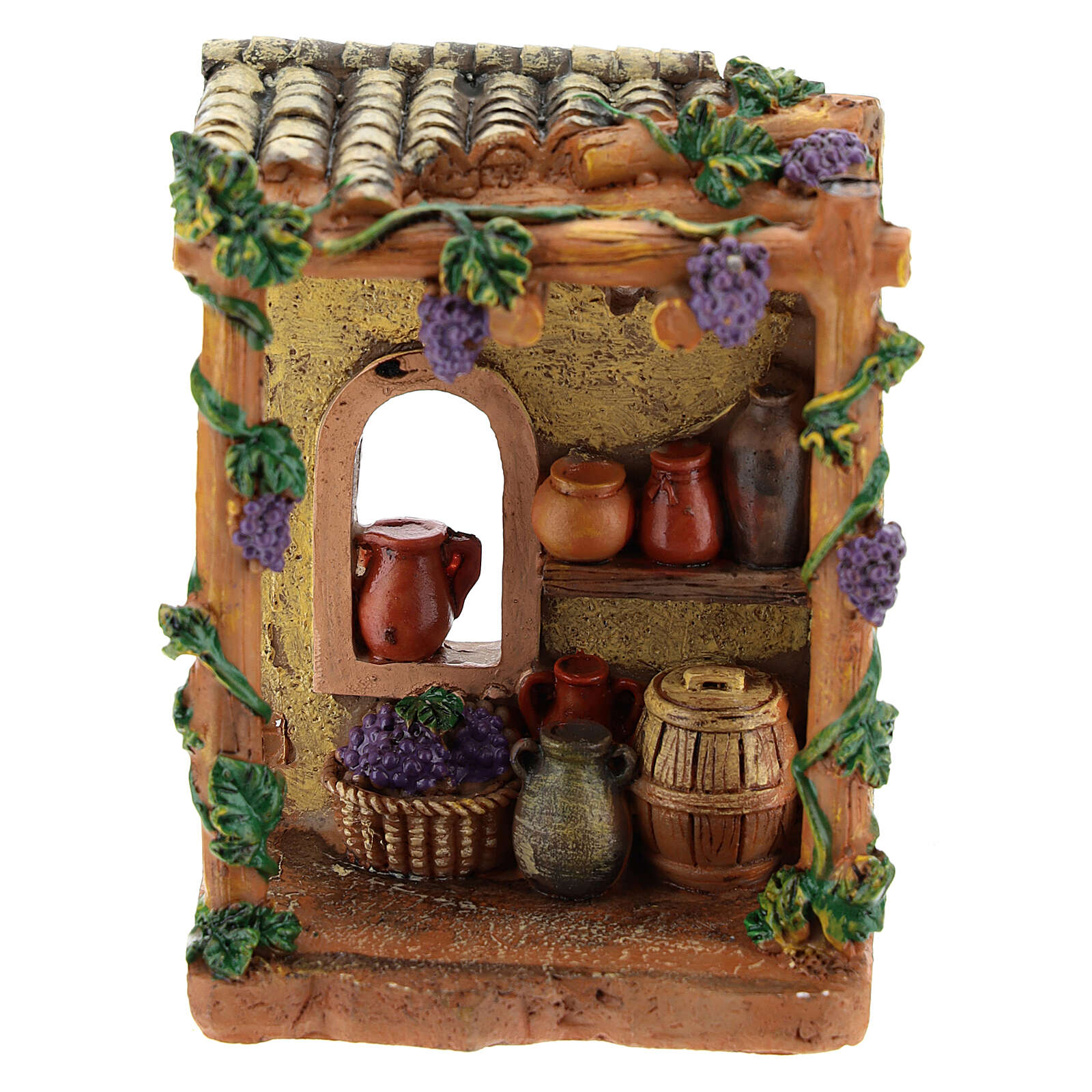 Miniature shop tavern in resin 10x7x4 cm for nativity 6-8 cm 4