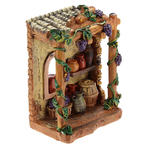 Miniature shop tavern in resin 10x7x4 cm for nativity 6-8 cm 3
