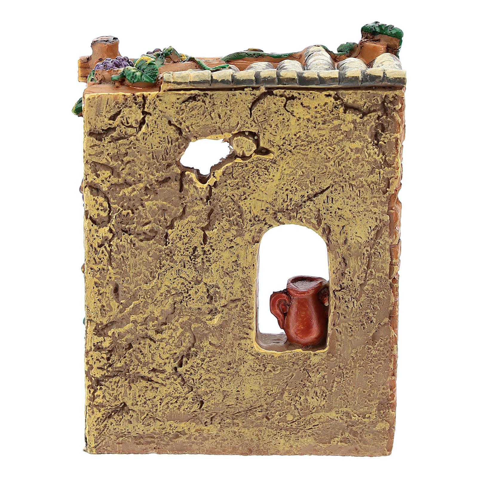 Bottega osteria in resina 10x7x4 cm per presepe 6-8 cm 4