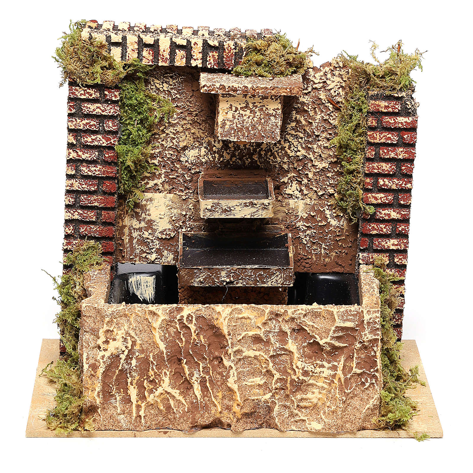 Fountain with three-layer pump of 15x20x14 cm for Nativity scenes 8-10 cm 4