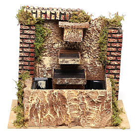 Fountain with three-layer pump of 15x20x14 cm for Nativity scenes 8-10 cm s1
