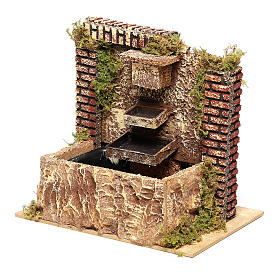 Fountain with three-layer pump of 15x20x14 cm for Nativity scenes 8-10 cm s2