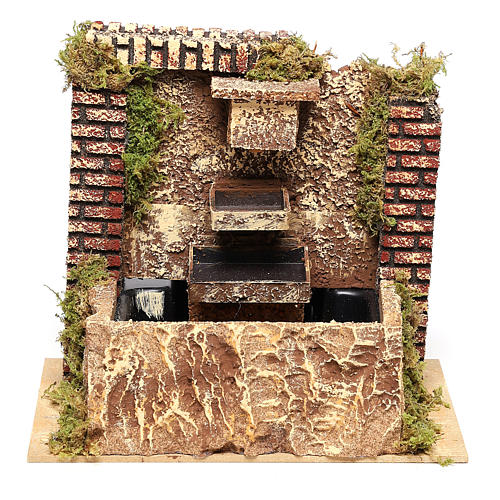 Fountain with three-layer pump of 15x20x14 cm for Nativity scenes 8-10 cm 1