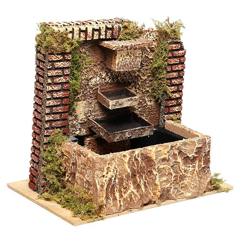Fountain with three-layer pump of 15x20x14 cm for Nativity scenes 8-10 cm 3