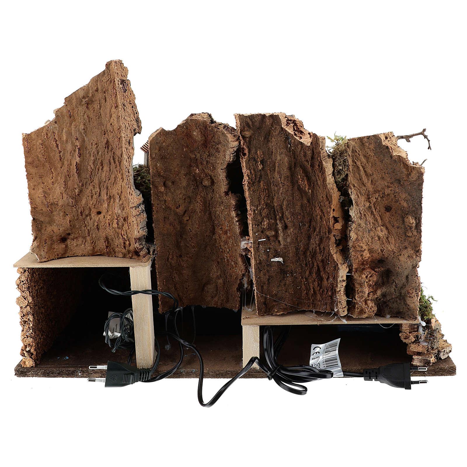Mulino ad acqua con pompa e luci 35x50x30 cm per presepi 10-12 cm. 4