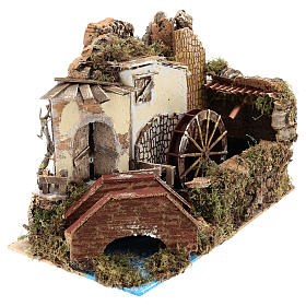 Water mill with pump 20x30x20 cm s3