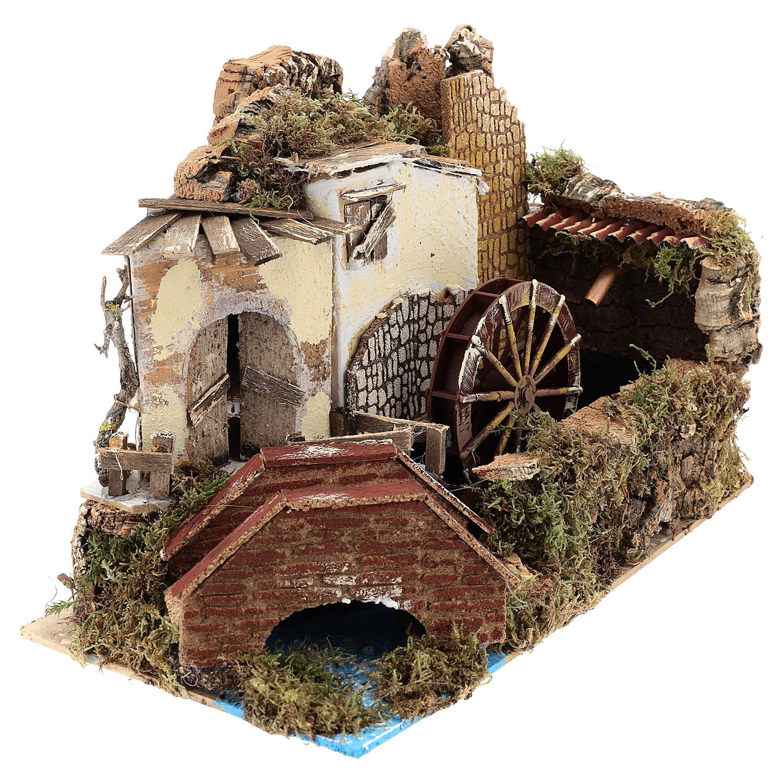Moulin à eau avec pompe 20x30x20 cm 4