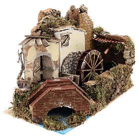 Moulin à eau avec pompe 20x30x20 cm s3