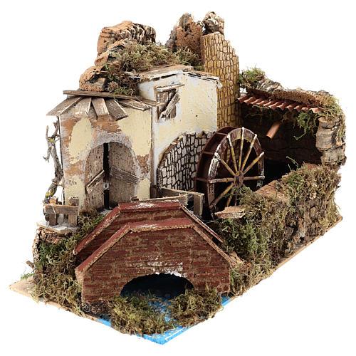 Moulin à eau avec pompe 20x30x20 cm 3