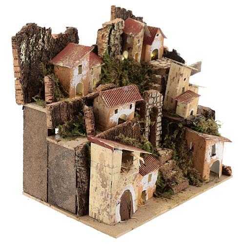 Miniature Italian village with 10 lights battery powered, 20x20x15 cm 3