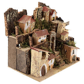 Miniature Italian village with 10 lights battery powered, 20x20x15 cm s3