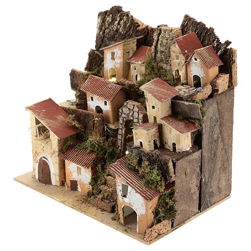 Miniature Italian village with 10 lights battery powered, 20x20x15 cm 2