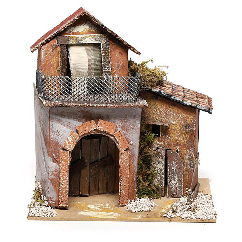 House with fountain for Nativity scene 20x20x15 cm 1
