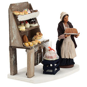 Pastry shop with shelf and pastry 13 cm s4
