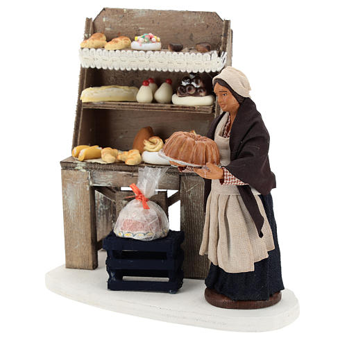 Pastry shop with shelf and pastry 13 cm 3