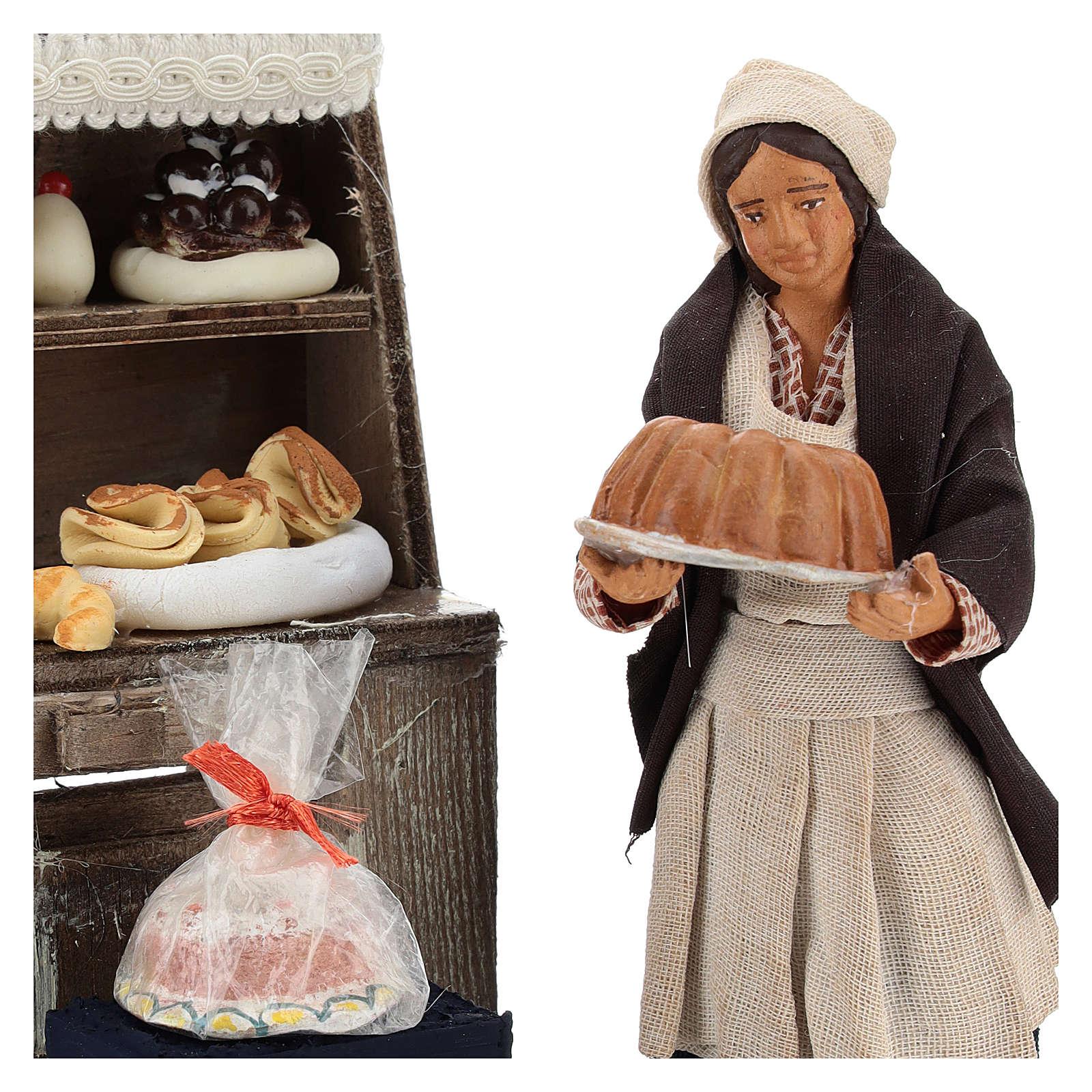 Décor boulangerie avec étagère et pâtissière 13 cm 4