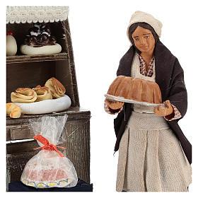 Décor boulangerie avec étagère et pâtissière 13 cm s2