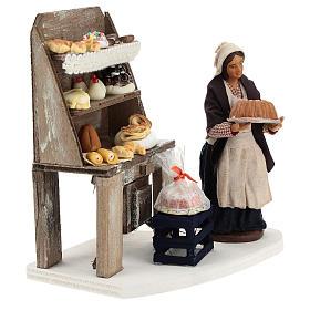 Décor boulangerie avec étagère et pâtissière 13 cm s4