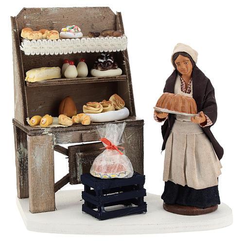 Décor boulangerie avec étagère et pâtissière 13 cm 1