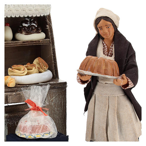Décor boulangerie avec étagère et pâtissière 13 cm 2