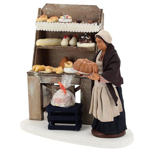 Décor boulangerie avec étagère et pâtissière 13 cm 3
