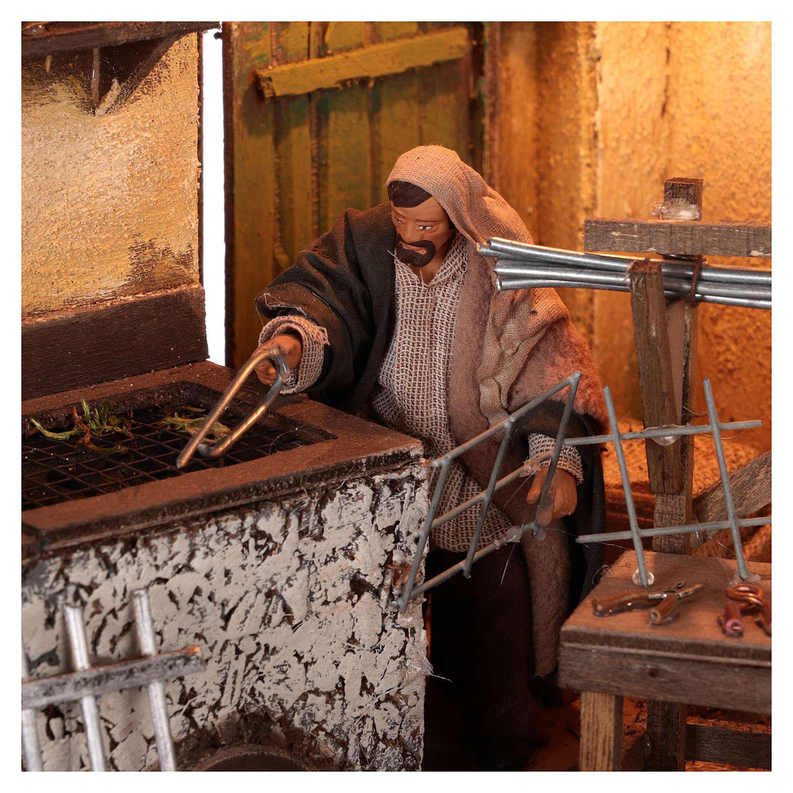 Tienda herrero con herramientas y movimiento 12 cm 4