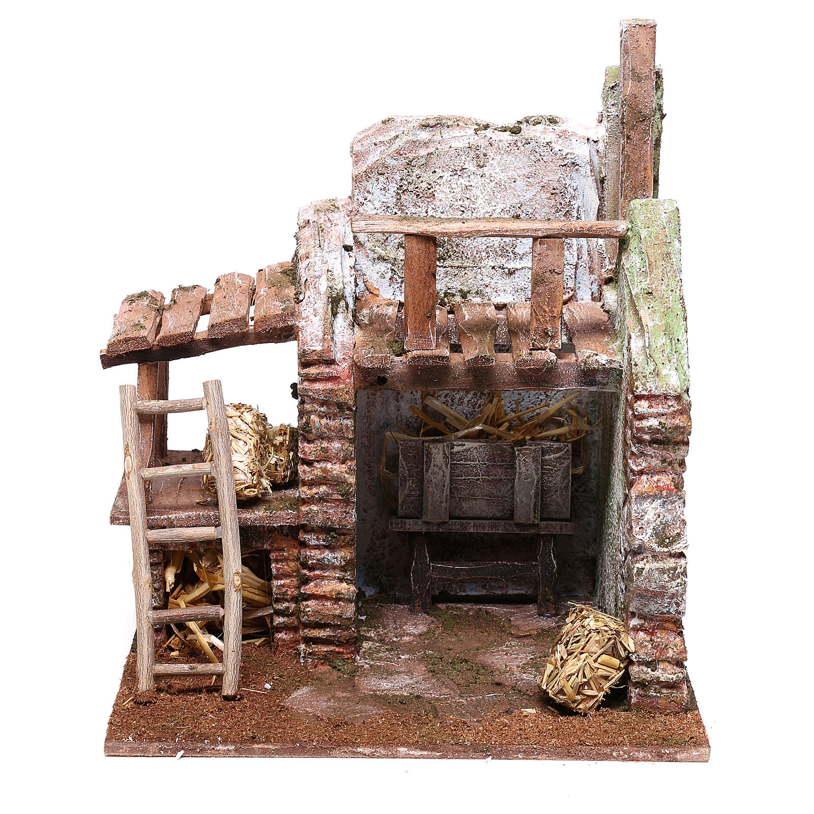 Barn 20x20x15 cm for Nativity scene of 10 cm 4