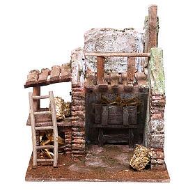 Barn 20x20x15 cm for Nativity scene of 10 cm s1