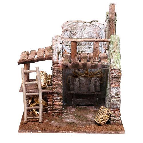 Barn 20x20x15 cm for Nativity scene of 10 cm 1