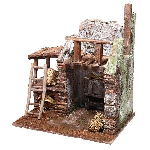 Barn 20x20x15 cm for Nativity scene of 10 cm 2