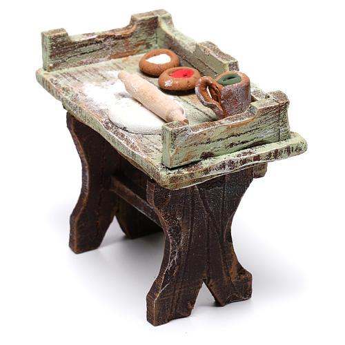 Mesa de quien hace la pizza 5x5x5 cm para belén de 10 cm 3