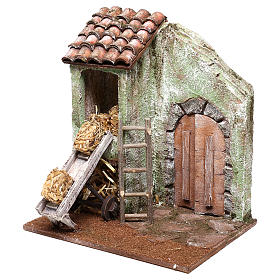 Barn with accessory for Nativity scene of 10 cm 20x20x15 cm s2