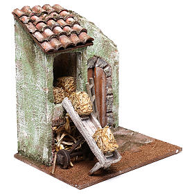 Barn with accessory for Nativity scene of 10 cm 20x20x15 cm s3