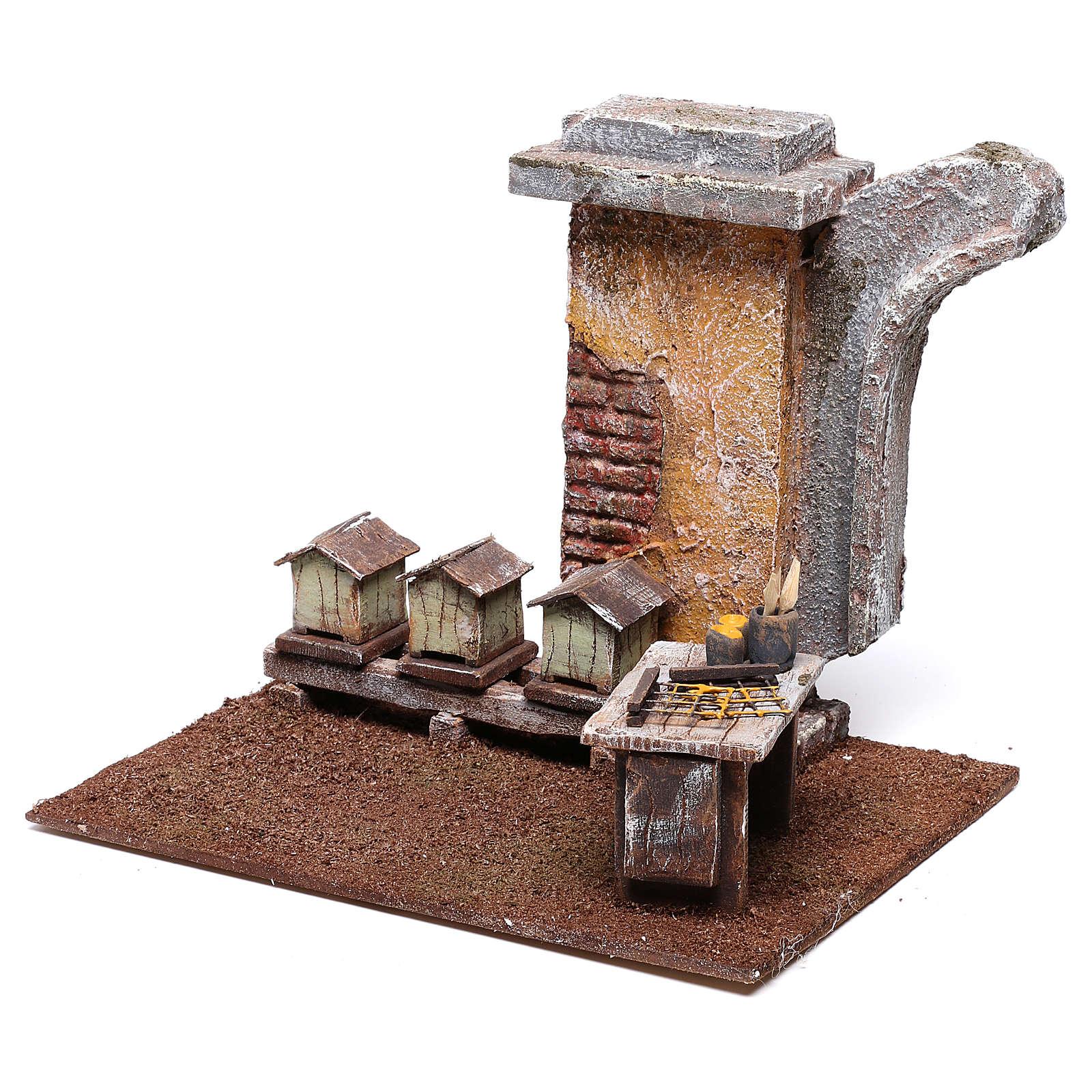 Ambientación apicultor 15x15x15 cm para belén de 10 cm 4
