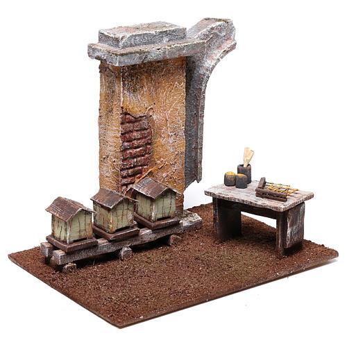 Ambientación apicultor 15x15x15 cm para belén de 10 cm 3