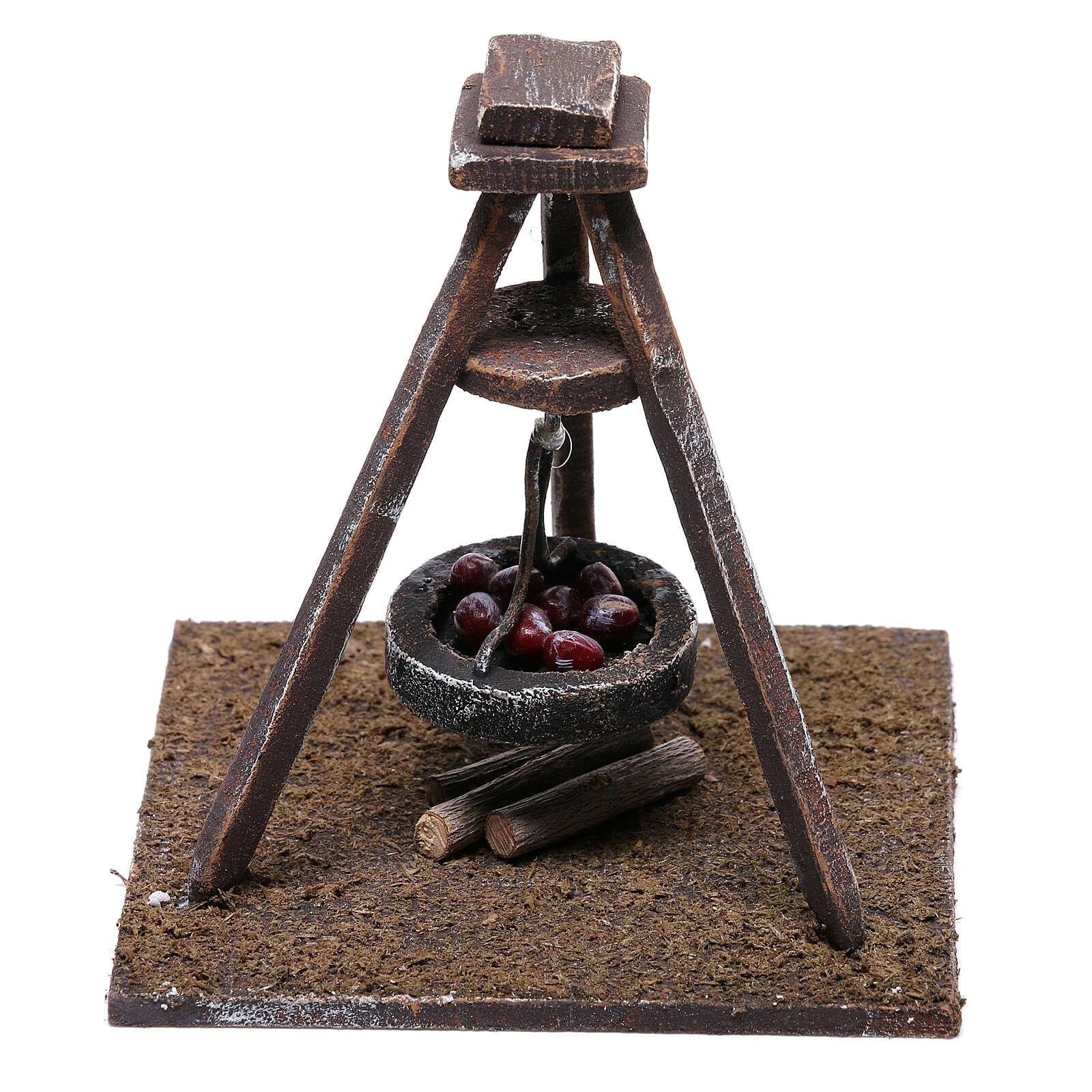 Miniature chestnut roaster 5x10x10 cm, for 10 cm nativity 4