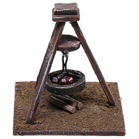 Miniature chestnut roaster 5x10x10 cm, for 10 cm nativity s1