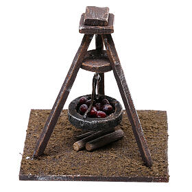 Miniature chestnut roaster 5x10x10 cm, for 10 cm nativity s3