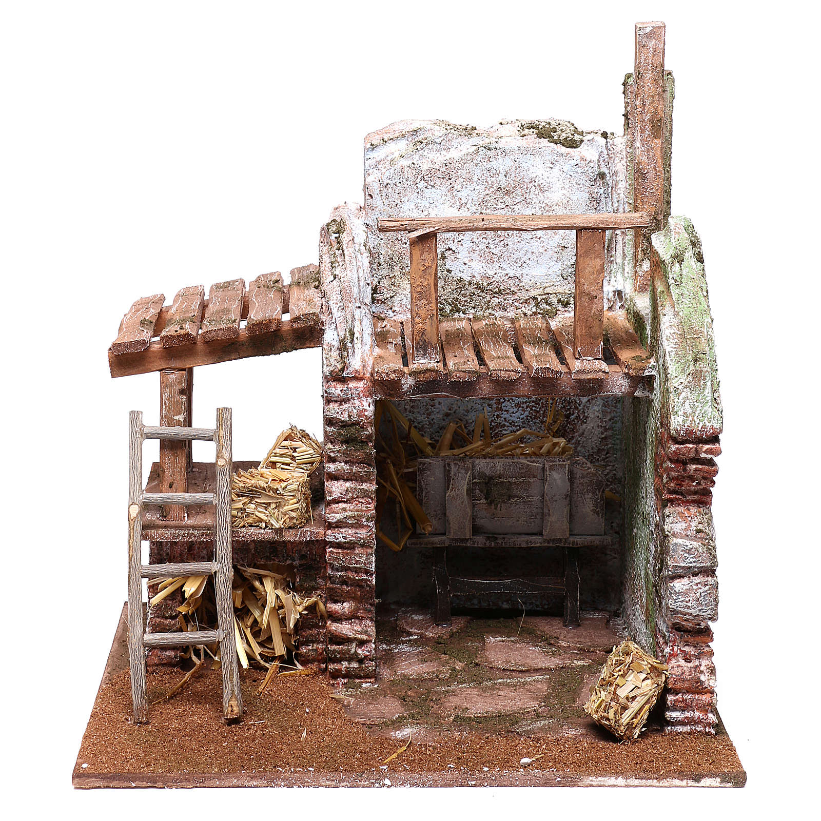 Barn for Nativity scene 12 cm 25x25x20 cm 4