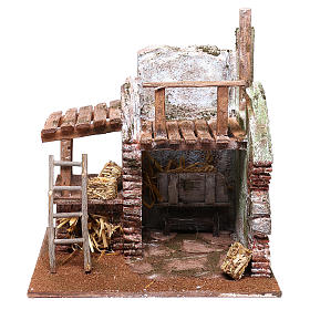 Barn for Nativity scene 12 cm 25x25x20 cm s1