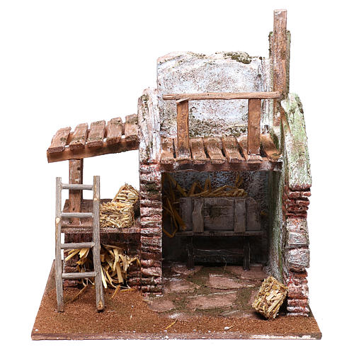 Barn for Nativity scene 12 cm 25x25x20 cm 1