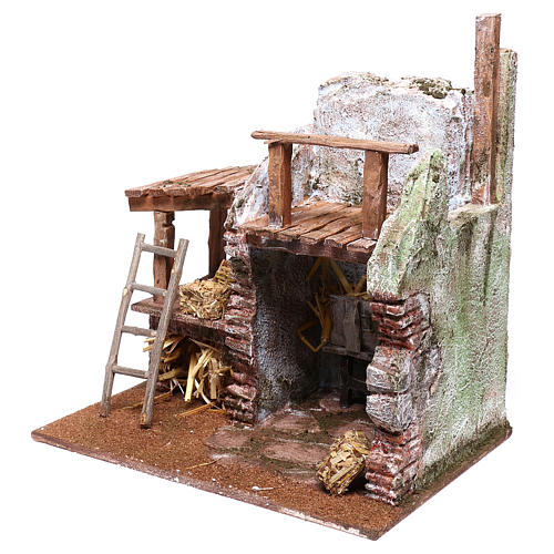 Barn for Nativity scene 12 cm 25x25x20 cm 2