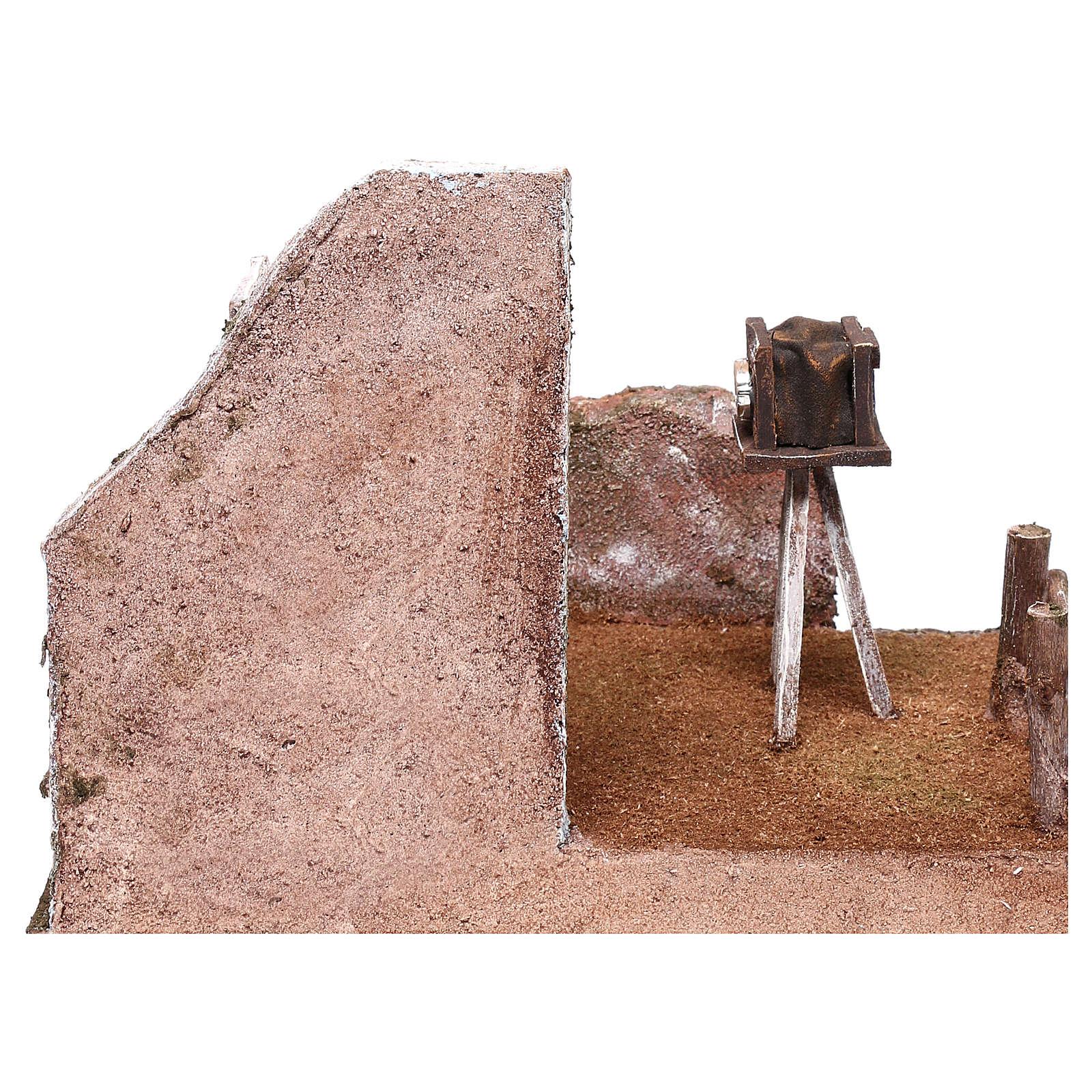 Décor photographe 20x25x20 cm pour crèche de 12 cm 4