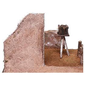 Décor photographe 20x25x20 cm pour crèche de 12 cm s4