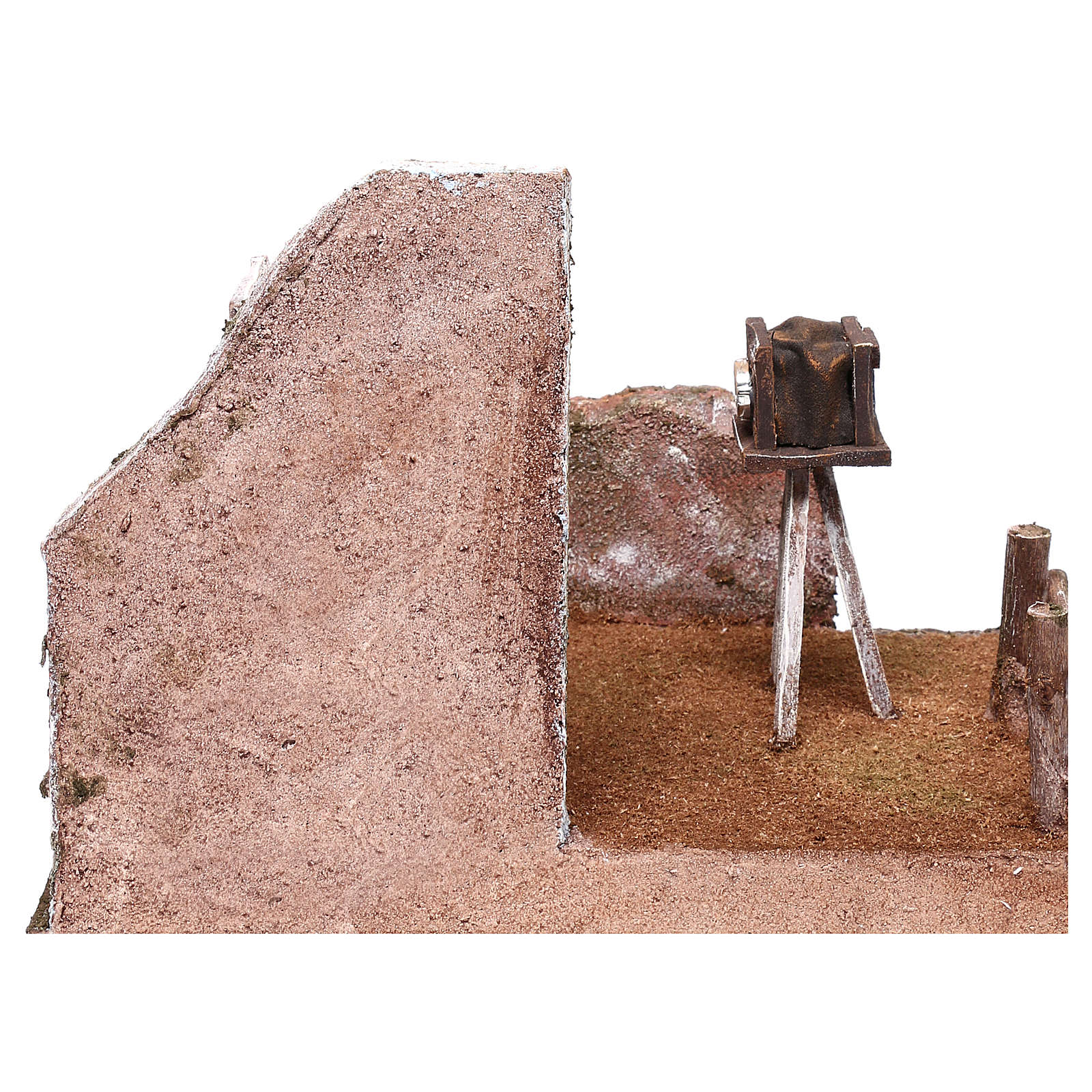 Ambientazione fotografo 20x25x20 cm per presepi di 12 cm  4
