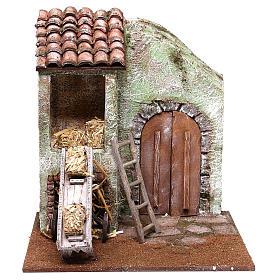 Barn 25x25x20 cm for Nativity scene of 12 cm s1