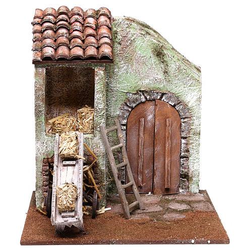 Barn 25x25x20 cm for Nativity scene of 12 cm 1