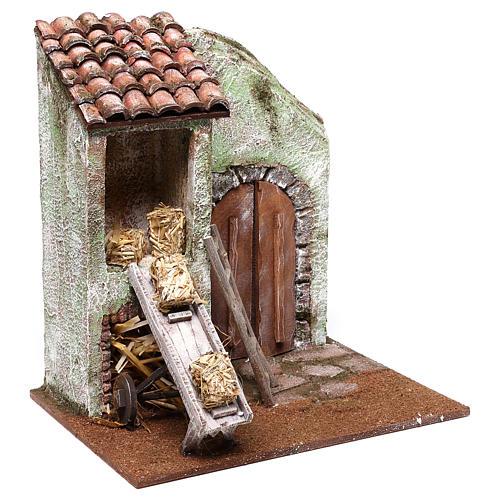 Barn 25x25x20 cm for Nativity scene of 12 cm 2