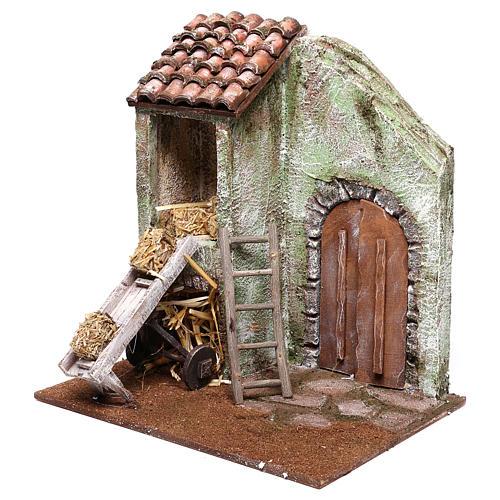 Barn 25x25x20 cm for Nativity scene of 12 cm 3