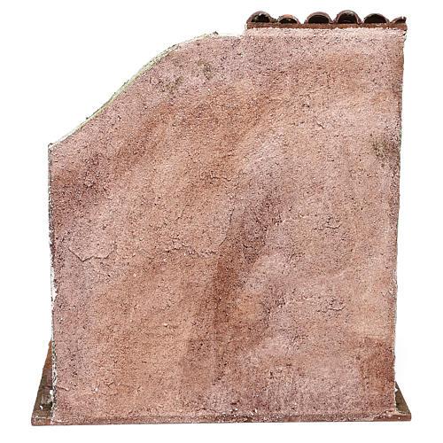 Fienile 25x25x20 cm per presepe di 12 cm  4